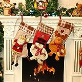 Chaussette de stockage Noël Chaussette Décoration Suspendue Sac de Cadeau Bonbons Motif de Renne 21.5*50.5*24cm