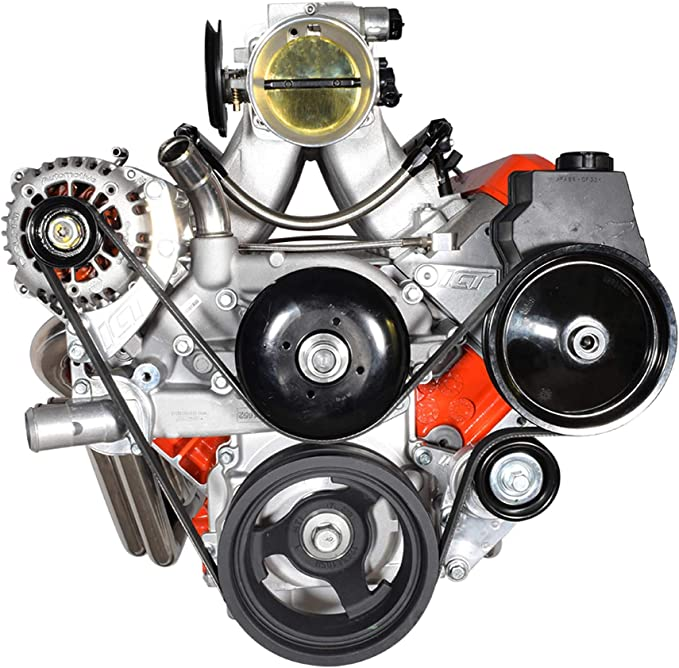 ICT Billet AC Delco LS Truck//SUV LQ4 LQ9 LY6 L33 5510 PUL300 Power Steering Pump and Reservoir