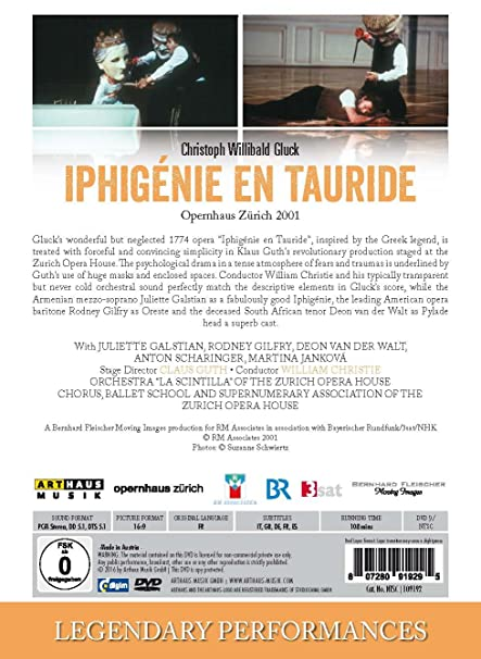 Amazon Gluck Iphigenie En Tauride Juliette Galstain Orchestra 34 La Scintilla34 Of The Zurich Opera House Rodney Gilfry