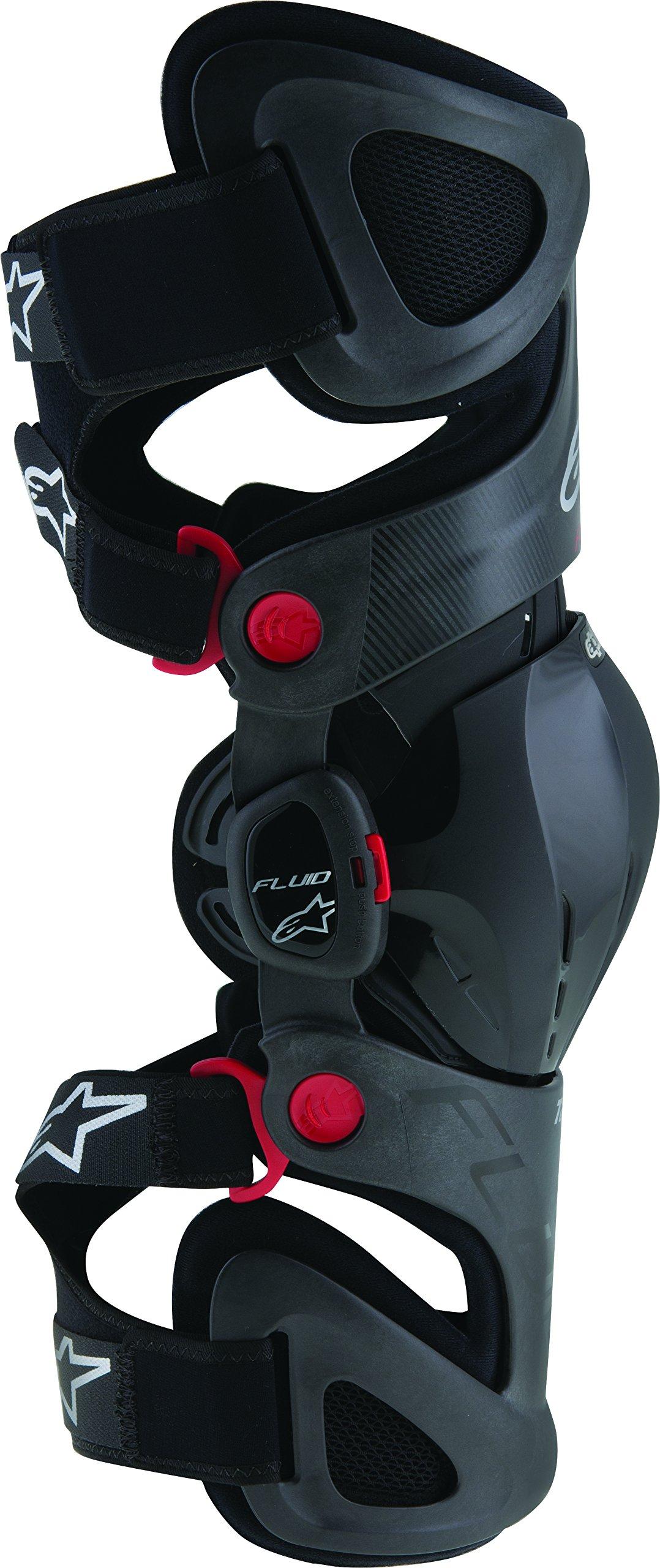 Alpinestars Unisex-Adult Fluid Tech Carbon Knee Brace Set Black/Red/White X-Large/XX-Large