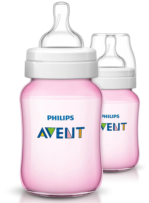 Philips Avent Classic Bottle (260 ml, Pack of 2, Blue) SCF565/27