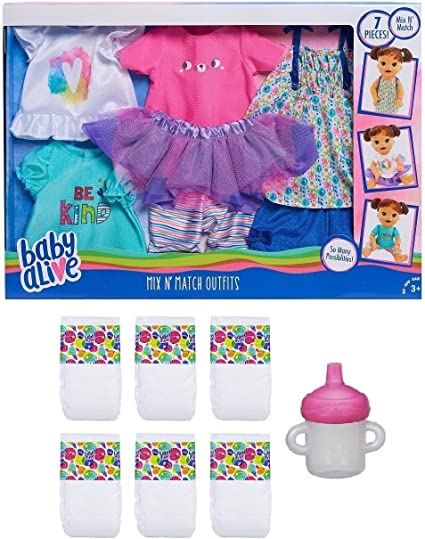 """New in Box Playsets Baby Alive Mix N/' Match Outfit Set Toys /"""" Games"""