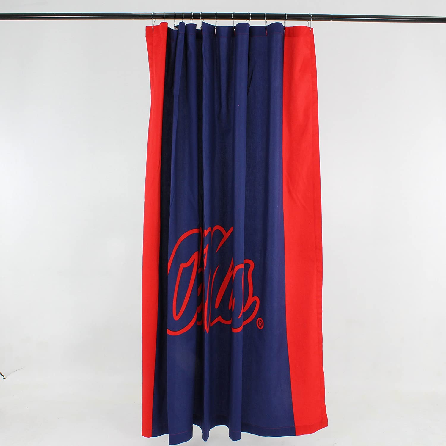 NCAA Mississippi Old Miss Rebels Ole Rebelsbig Logo Shower Curtain Blue
