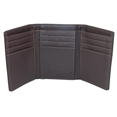 Amazon.com: Robert Graham Mens Faux Leather Trifold Wallet with Two Tone Paisley Print: Clothing