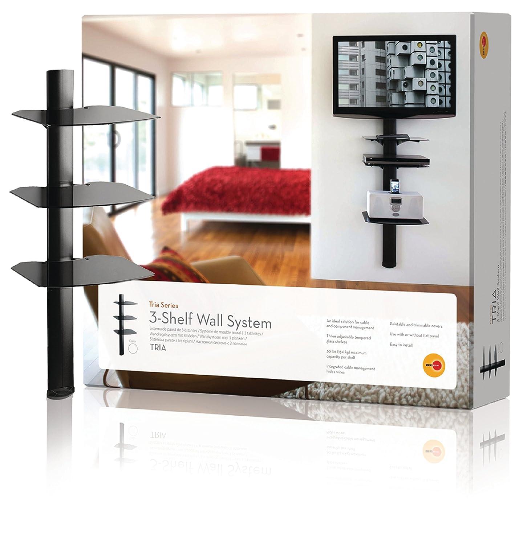 OmniMount Tria 3 Shelf Wall System, Black