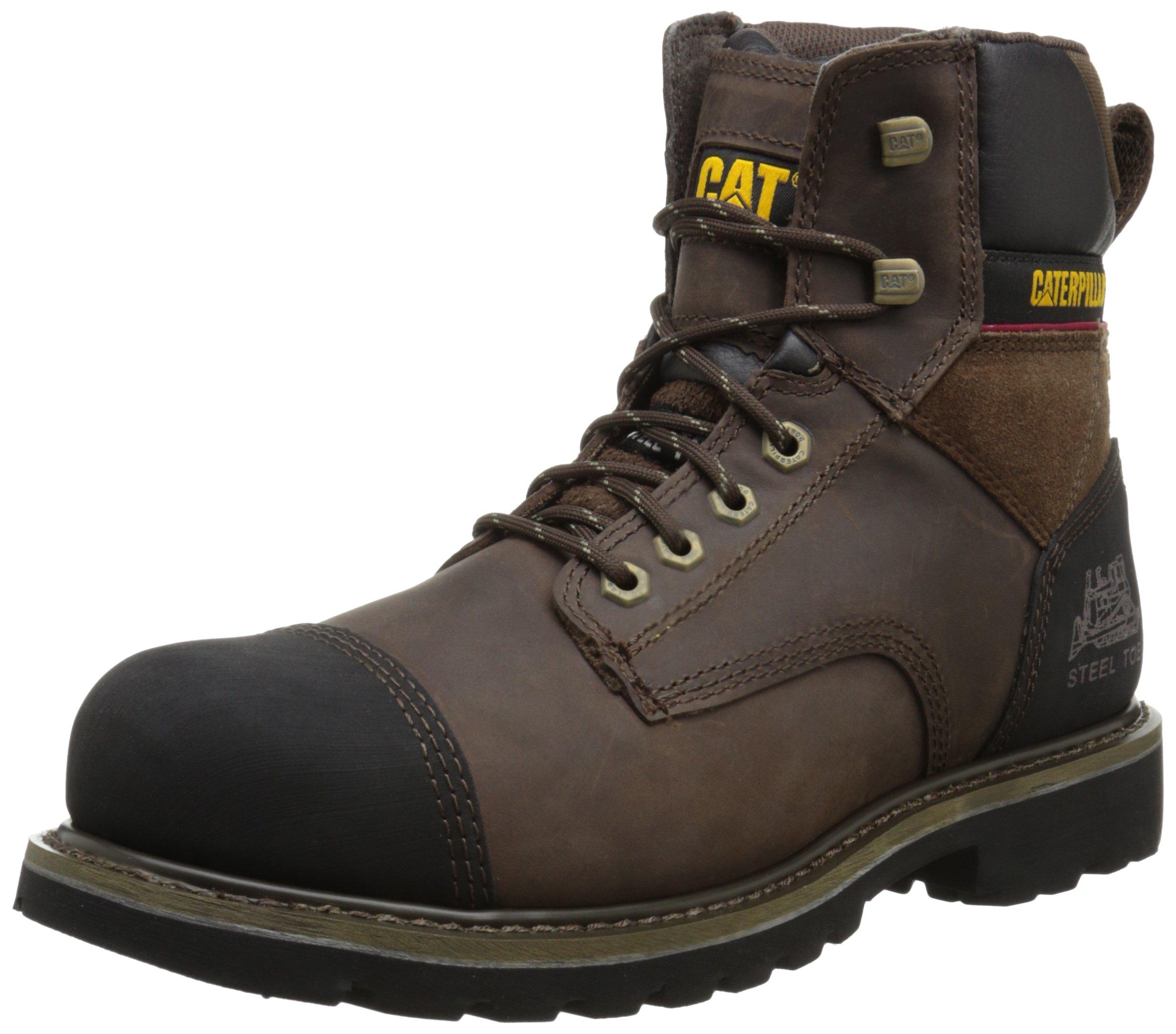 Caterpillar Men's Traction 6 Inch Steel Toe Work Boot, Dark Brown, 12 M US