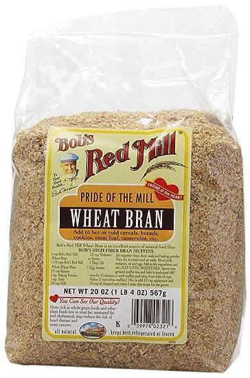 Amazon com : Bob's Red Mill Wheat Bran, 20 oz : Wheat Flours And