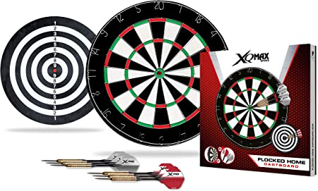 Amazon Com Xq Max Unisex S Flocked Dart Board Set Black 2 Cm Sports Outdoors