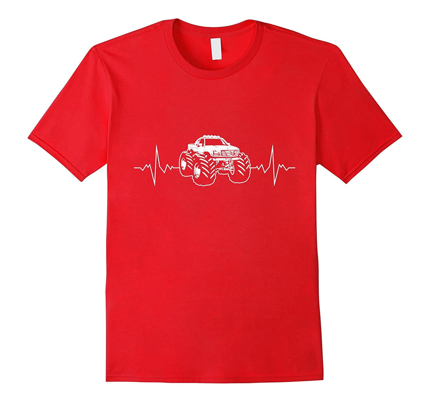 American Truck Heartbeat - Monster Truck T shirts for Men-TH