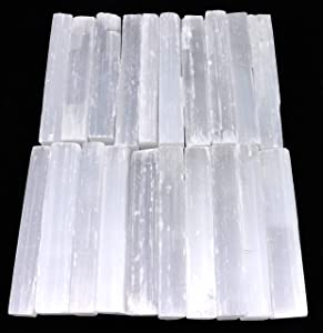 Selenite Crystal Wands   20 Pack Selenite Sticks for Healing, Reiki, & Metaphysical Energy Drawing   Available in 2 Inch, 4 Inch, 6 Inch, 8 Inch (4 Inch)
