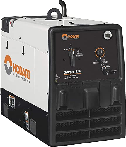 Hobart Champion Elite Arc Welder Generator with 725CC Kohler Gas Engine and Electric Start – 40-225 Amp DC Output, 11,000 Watt AC Power, Model Number 500562