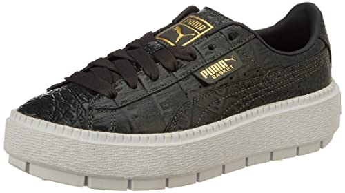 9c26e4935d3d38 Puma Women s Platform Trace ExoticLuxWn s Iron Gate Leather Sneakers-4  UK India (