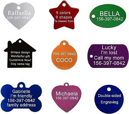 Custom dog tag bone shape heart design