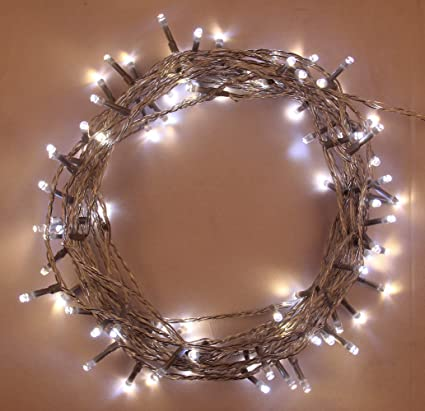 Fairy Lights 100 Led 10m 2 In 1 Warm White And Bright Cool White Indoor Outdoor Christmas Lights String Tree Lights Festival Memory Mains Powered 32ft