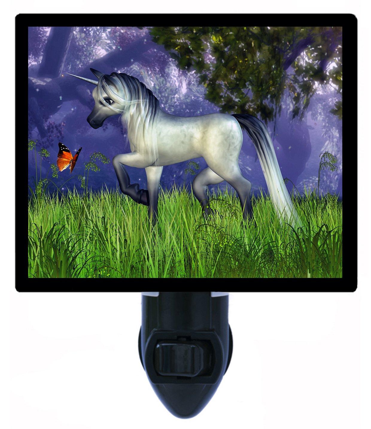 ユニコーンとバタフライNight Light – ファンタジーLED Night Light B006O4K5V0