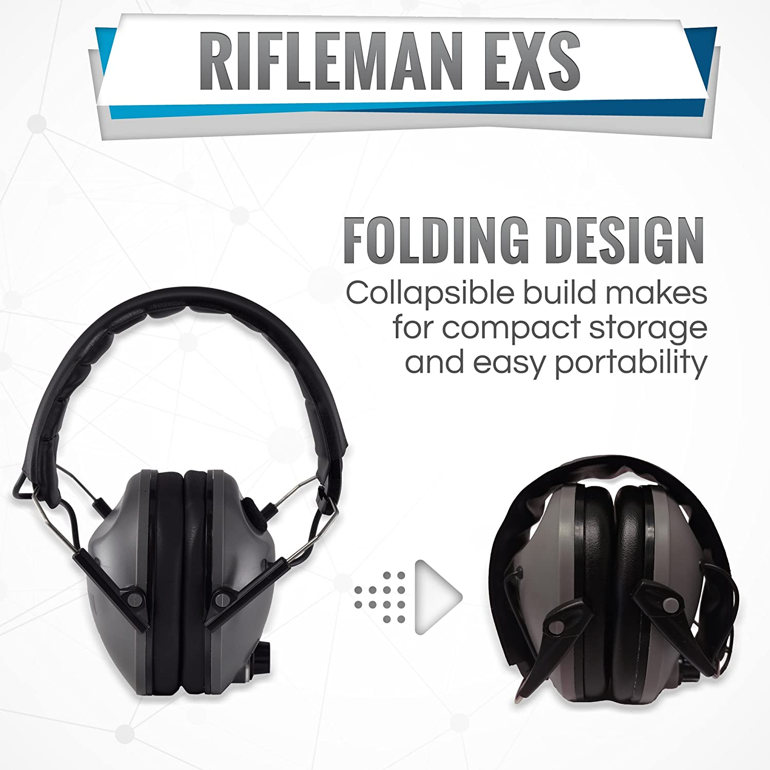 Rifleman Exs Electronic Hearing Protection For Shooting How To Build Amplified Ear Adjustable Folding Low Profile Design Hunting Enhancement Aids Sports