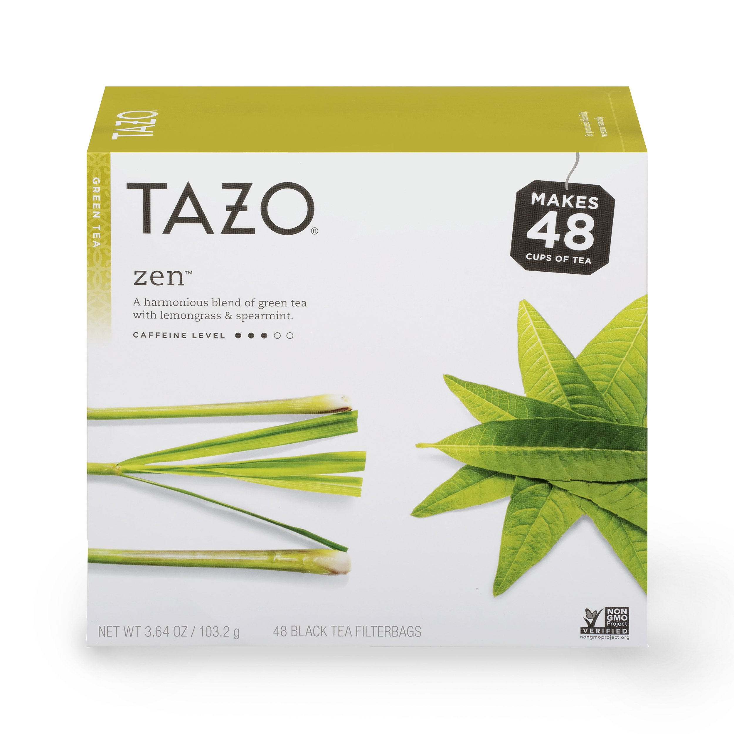 Tazo Zen Green Tea Filterbags 48 ct, Pack of 4