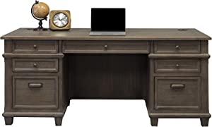 "Martin Furniture Double Pad Desk, 68"", Weathered Dove"