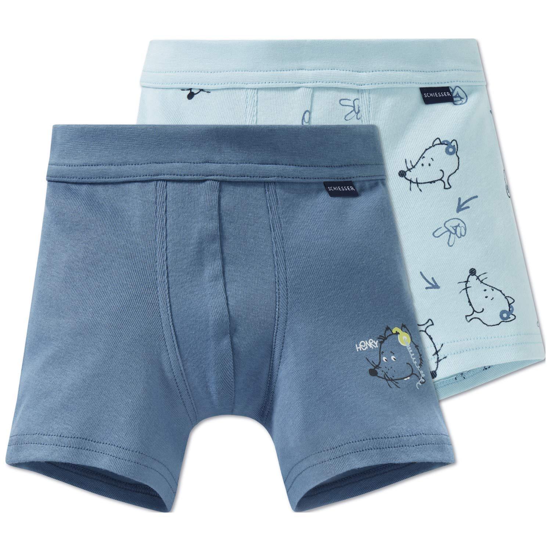 Schiesser Pantaloni Pigiama Bimbo Pacco da 2