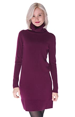 c80b3c4c08a cashmere 4 U Women s 100% Pure Cashmere Turtleneck Long Sleeve Sweater Dress  at Amazon Women s Clothing store