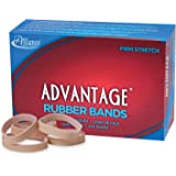 "Alliance Rubber 26745 Advantage Rubber Bands Size #74, 1 lb Box Contains Approx. 200 Bands (3 1/2"" x 3/8"", Natural Crepe)"