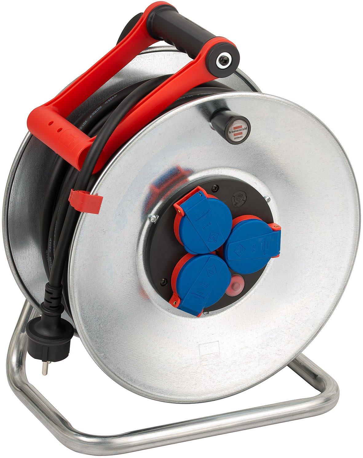 Brennenstuhl Garant S IP44 Kabeltrommel (40m - Stahlblech, ständiger Einsatz im Außenbereich, Made In Germany) silber B001BAY860 | Verwendet in der Haltbarkeit