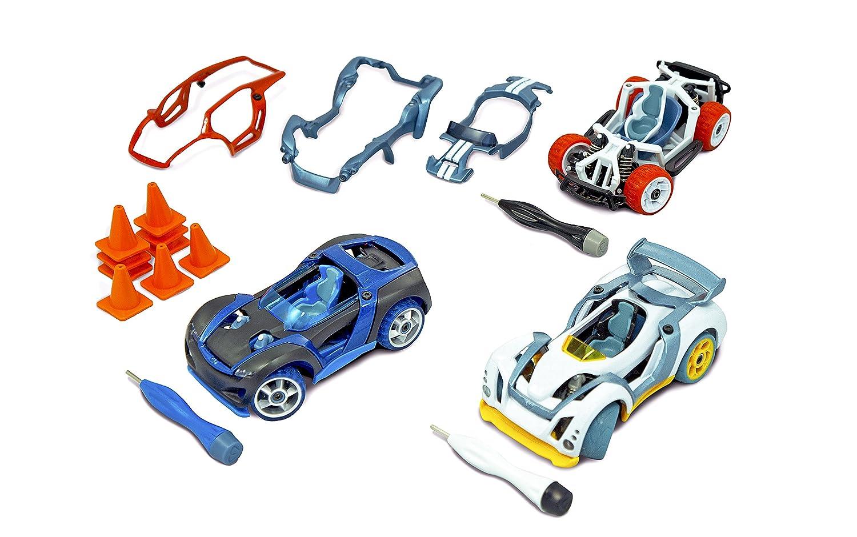 Build Your Car >> Amazon Com Modarri 3 Pack S1 X1 T1 Build Your Car Kit Toy Set
