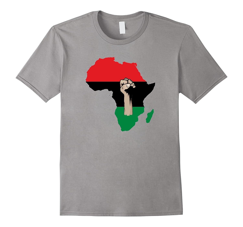 Africa Black Power T Shirt - Raise Fist African American-CD