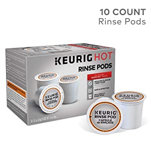 Keurig 5000057588 Rinse Brews in Both Classic 1.0 and Plus 2.0 Series K-Cup Pod Coffee Makers, 10 Count, White