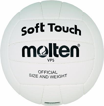 MOLTEN VP5 - Pelota de Voleibol (Talla 5), Color Blanco: Amazon.es ...