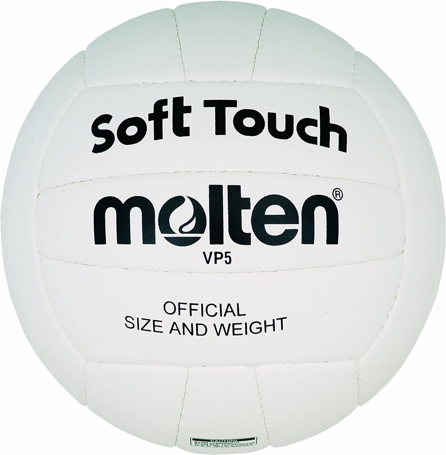 MOLTEN VP5 - Pelota de Voleibol (Talla 5), Color Blanco: Amazon.es ...