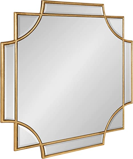 Kate And Laurel Minuette Glam Square Wall Mirror 24 X 24 Gold Elegant Traditional Home Decor With A Boho Charm Home Kitchen