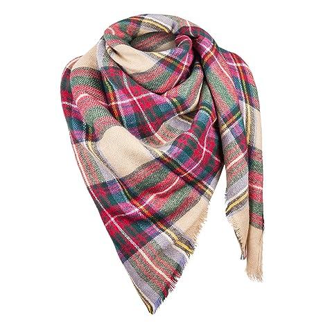 81961c7d2713 Automne Hiver écharpe de femmes Écharpe automne Foulard d hiver Étole  Surdimensionné tartan de
