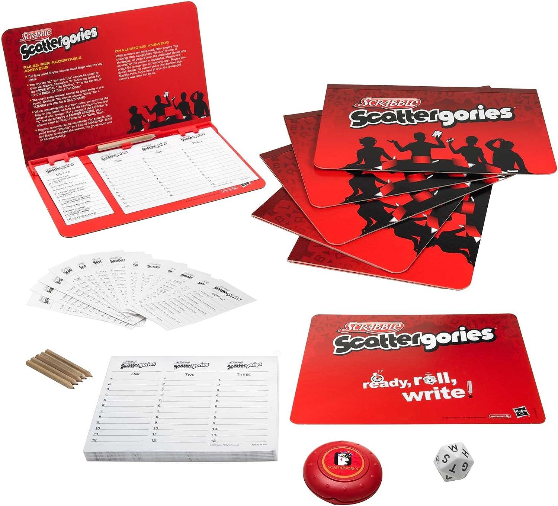Amazon Com Hasbro Games Scrabble Scattergories Game Toys Games