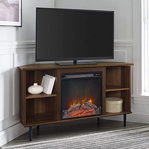 Walker Edison Simple Corner Fireplace Stand