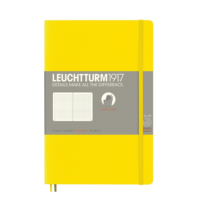 Leuchtturm 1917 - Cuaderno de tapa blanda, color amarillo limón A6 (bolsillo)