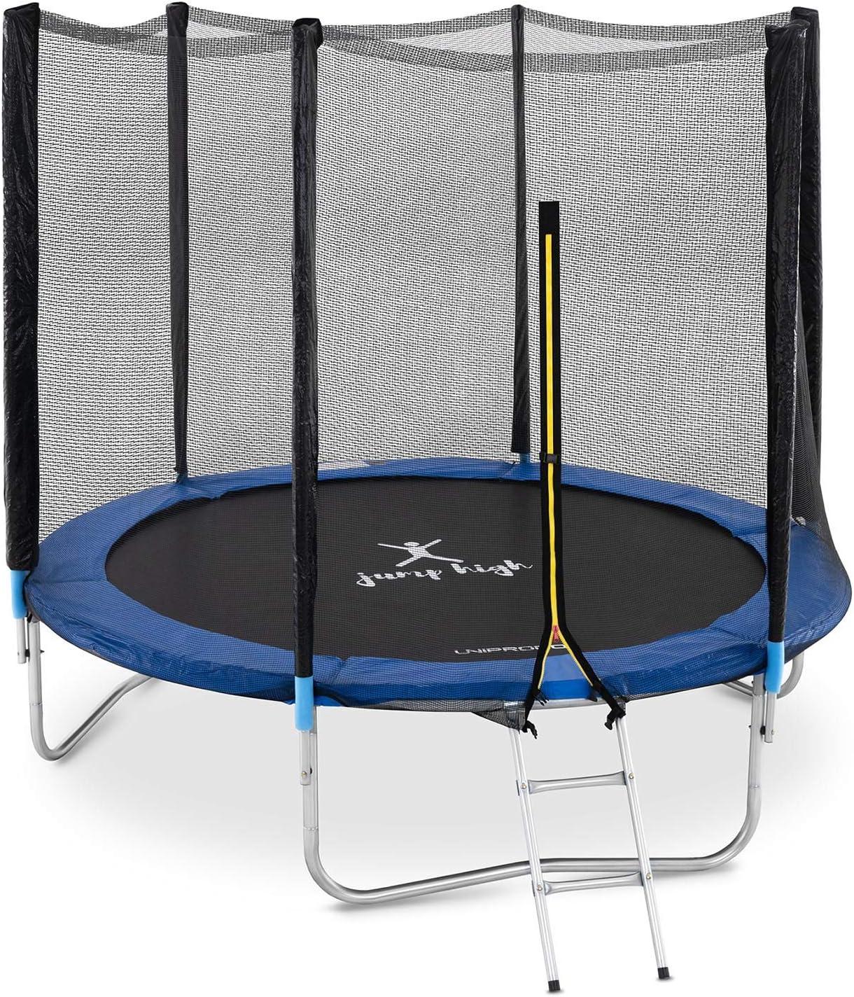 Uniprodo Cama Elástica Trampolín para Exterior Uni_Trampoline_04 (con Red De Protección, Estructura De Acero Galvanizado, hasta 100 kg, Ø 240 cm): Amazon.es: Juguetes y juegos