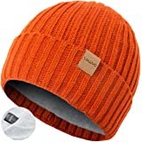 ZOWYA Warm Winter Beanie Double-Layer Skully Hats for Men & Women Thick Daily Knit Cuff Beanie Hats