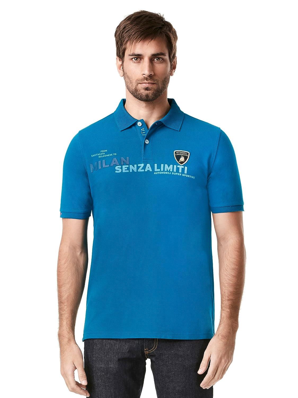 Nuevo. Lamborghini Motorsport camisa de Polo para hombre azul ...