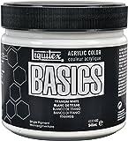 Liquitex Basics Pot de Peinture acrylique 946 ml Blanc de titane