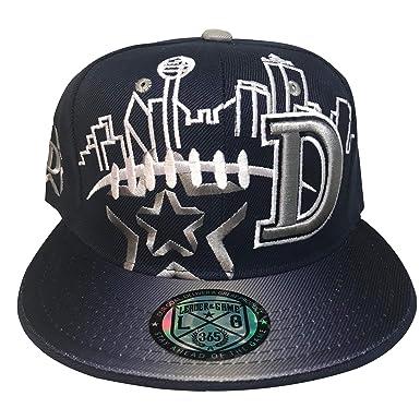 Dallas Skyline Snapback Cap in Cowboys Colors (Navy Blue afe240da001