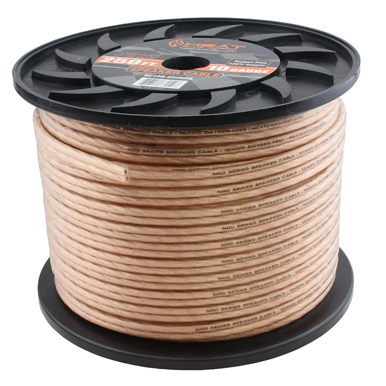 Amazon.com: 10 Gauge 250\' OFC Speaker Wire Car Home Audio Cable 250 ...