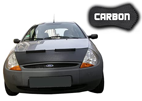 Ford Ka Carbon Bonnet Hood Bra Front End Mask Car Bra Stoneguard Protector Tuning
