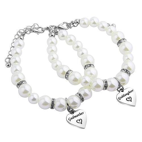 Amazon.com: seiraa madrina pulsera pulsera de perlas regalo ...