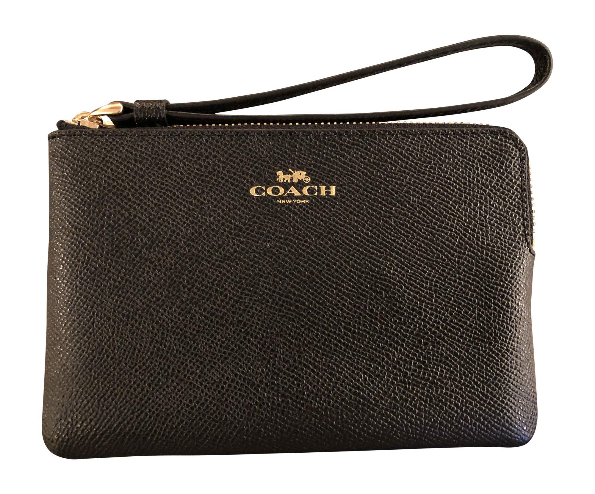 Coach Crossgrain Leather Corner Zip Wristlet - F58032