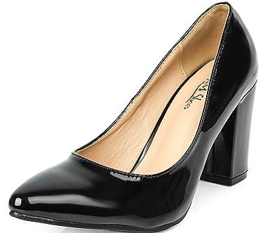 e382d890beaf AgeeMi Shoes Femmes Sexy Chaussures Élégant Talon Bloc Haut Pointu  Chaussures Escarpin Pointu
