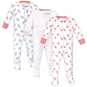 Yoga Sprout Baby Zipper Sleep N Play, Flamingo 3 Pack, 3-6 Months (6M)
