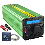 EDECOA Power Inverter 2500W Pure Sine Wave DC 12V to 110V AC with LCD Display and Remote Controller