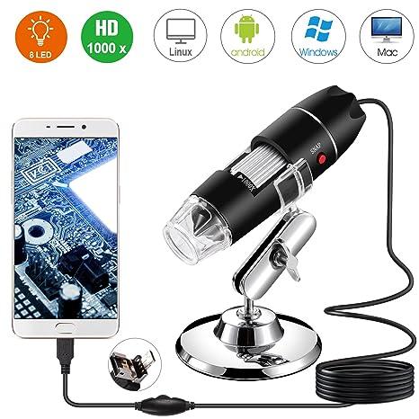 Microscopio Digital USB, endoscopio de Aumento 40X-1000X de Mano Bysameyee, Mini cámara