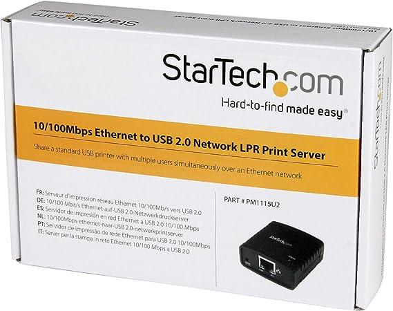 Startech Com 10 100mbps Ethernet To Usb 2 0 Network Lpr Computers Accessories